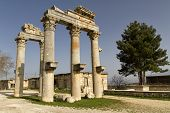 Pillars in Diocaesarea (Olba), Mersin - Turkey