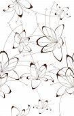 stock photo of tuberose  - Seamless floral background - JPG