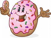 Happy Smiling Donut Cartoon Character
