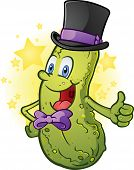 Pickle in a Top Hat giving Thumbs Up