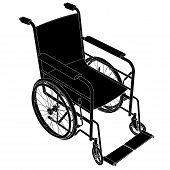 Wheelchair Vector.