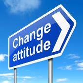 image of rude  - Illustration depicting a sign with a change attitude concept - JPG