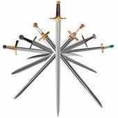 Set Of Swords Cross Crosswise