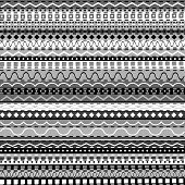African Background With Black And White Motifs