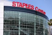 O Staples Center no centro de Los Angeles