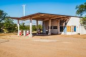 Canopied Gas Station