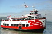 Red and  White Fleet boat docking  at Pier 43 � in  Fisherman's Wharf