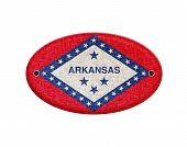 Wooden Sign Of Arkansas.