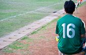 Soccer Player Wait For The Match