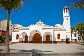 Virgen del Carmen Church at Los Cristianos, Tenerife, Spain.