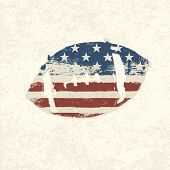 Grunge american flag themed ball symbol. Vector, EPS10