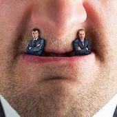 Businessman predator - businessmen instead of fangs