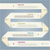 Paper strip infographics vector template.