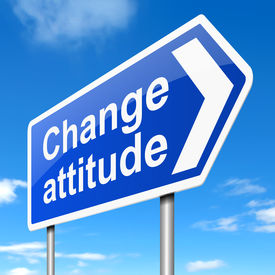 picture of disrespect  - Illustration depicting a sign with a change attitude concept - JPG