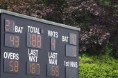 Electronic Cricket Scoreboard