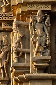 Human Sculptures Of Eastern Temple, Khajuraho, India, Unesco Site.