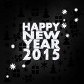 Noble Happy New Year Label With Stars