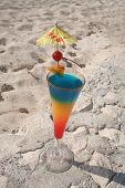 foto of beach party  - colorful drink at the beach - JPG