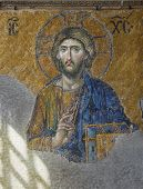 Hagia Sofia: Christ Mosaic (For Editorial Use)
