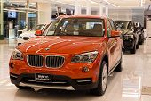 Bmw X1 Xdrive 20D Car On Display At The Siam Paragon Mall In Bangkok, Thailand.