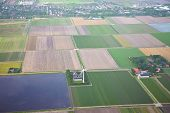 The Netherlands From Above. Aerial View At Agriculture Landscape