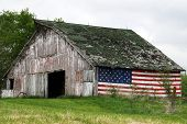 Patriotic Old Barn