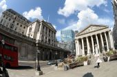 Royal Exchange And Bank Of England, London, England, Uk, Europe
