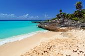 pic of playa del carmen  - Caribbean Sea beach in Playa del Carmen - JPG
