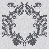 Vector vintage baroque border frame card cover