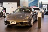 Porsche 911 Carrera S Car On Display At The Siam Paragon Mall In Bangkok, Thailand.