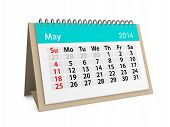 Monthly Calendar For New Year 2014. May