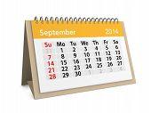 Monthly Calendar For New Year 2014. September
