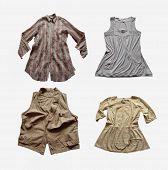 Used clothing isolated on white