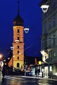Night View Of Church In Graz, Austria