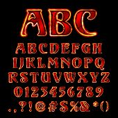 Vector Hot Lava Like Font