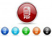 pdf icon set,