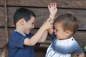 Children Fighting, Sibling Rivalry