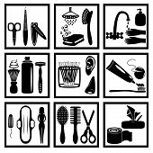 image of personal hygiene  - black icons of personal hygiene for everyone art and illustration vector style - JPG