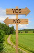 Big Decision Sign
