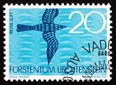 Postage Stamp Liechtenstein 1966 Clean Air, Bird, Nature Conserv