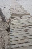 Damaged Boardwalk After Storm.