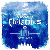 Christmas Greeting Card. Merry Christmas lettering.