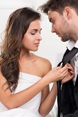 stock photo of intimate  - Beautiful sexy Intimate couple - JPG