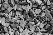 picture of cleaving  - Close up of gray gravel background black and white - JPG