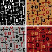Skeleton Key-lock Pattern_4 Colorways