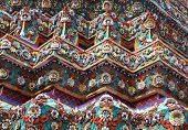 part of the beautiful Buddhist temple gable at Thailand