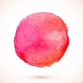 Red vector isolated watercolor paint circle