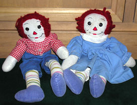 picture of rag-doll  - old vintage raggedy ann and andy dolls - JPG