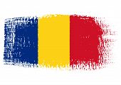 Brushstroke Flag Romania