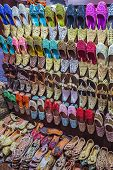 Colorful Shoes In Souk Dubai